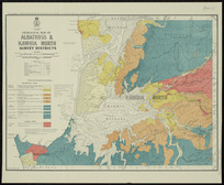Geological map of Albatross & Kawhia North survey districts [cartographic material] / drawn by G.E. Harris.
