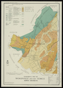 Geological map of Woodville and part Gorge Survey Districts [cartographic material] / drawn by C.H. Hyde.
