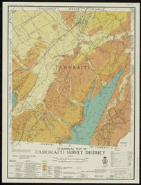 Geological map of Tahoraiti Survey District [cartographic material].