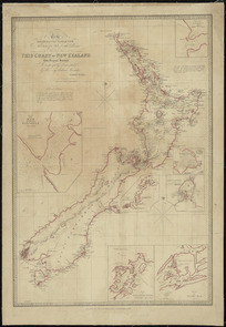 To the Right Honourable the Secretary of State for the Colonies etc. this chart of New Zealand from original surveys [cartographic material] / engraved by Jas Wyld, Charing Cross East.