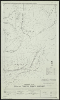 Geological map of Una and Travers Survey Districts [cartographic material] / drawn by G.E. Harris, 1935.