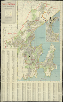 Map of Wellington and environs [cartographic material].