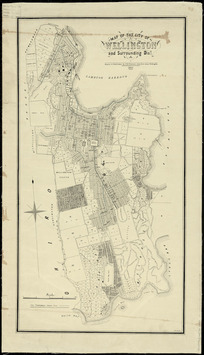 Map of the city of Wellington and surrounding dist. [cartographic material] / drawn & published by F.H. Tronson.