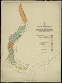 Map-to-accompany-a-return shewing lands reclaimed from the harbour of Port Nicholson [cartographic material] / F.W. Flanagan, chief draughtsman.