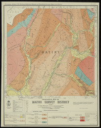 Geological map of Matiri survey district [cartographic material] / drawn by G.E. Harris, 1935.