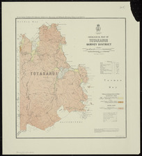 Geological map of Totaranui survey district [cartographic material] / drawn by G.E. Harris.
