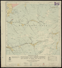 Geological map of Whitcombe Pass survey district and portions of Poerua and Butler S.D's [cartographic material] / compiled and drawn by G.E. Harris.