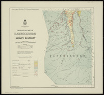 Geological map of Bannockburn Survey District [cartographic material] / drawn by G.E. Harris.