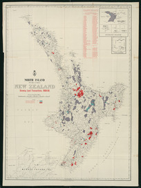 North Island (Te Ika-a-Maui), New Zealand [cartographic material] : showing land transactions, 1908-09 / G.P. Wilson, delt.