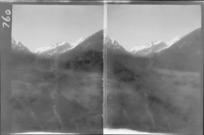 Edgar Williams' Mount Aspiring trip, view of Mount Aspiring and the West Matukituki River Valley, Central Otago Region