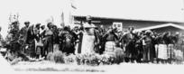 Robson, Edward Thomas, fl 1920s-1940s? : Ngati Porou group, including Apirana Ngata, at the opening of Mahina-a-rangi meeting house, Turangawaewae Marae, Ngaruawhahia
