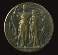 Artist unknown :[Bronze medal awarded at Universal Exposition, St Louis, 1904, Obverse].