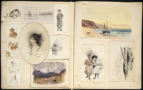 Various artists :[Hodgkins family album. Sketches by William Mathew Hodgkins and Frances Mary Hodgkins. 1880-90s].