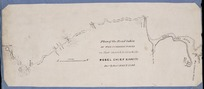 [Nops, John George, d 1847] :Plan of the road taken by the combined forces on their march to attack the rebel chief Kawiti, Decr & Jany 1845 & 1846. - Scale [ca. 1;63 360] - [ca 1846?]