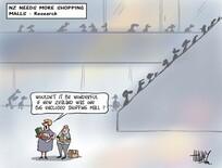 Hawkey, Allan Charles, 1941- :[NZ needs more shopping malls]. 23 May 2013