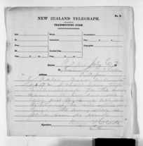 Native Minister of Colonial Defence - Inward telegrams