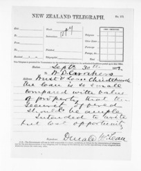 Native Minister and Minister of Colonial Defence - Inward telegrams