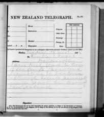 Native Minister - Outward telegrams