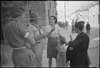 Italian women with Allied soldiers, Sora, Italy, during World War II