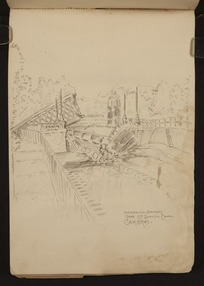 O'Grady, James, 1882?-1956 :Destroyed bridges over St Quentin Canal, Cambrai [1918]