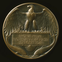 Artist unknown :[Bronze medal awarded at Universal Exposition, St Louis, 1904, Reverse]