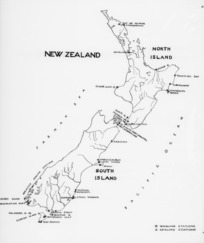 Map showing whaling and sealing stations between 1791-1961