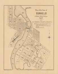 Plan of the town of Dunkeld [electronic resource] / C.W. Adams, district surveyor, May 1876.