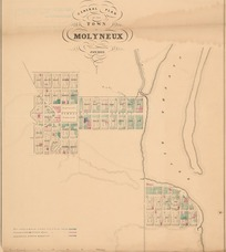 General plan of the town of Molyneux [electronic resource] / C.B. Shanks, assistant surveyor, Jan 1862. ; [D. Henderson, delt.]