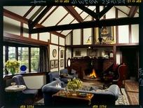 View of the living room at `Woodleigh Farm,' a house near Marton, Rangitikei District, Manawatu-Wanganui Region