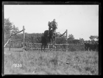 A New Zealand officer winning the jumping competition at the Anzac Horse Show, World War I