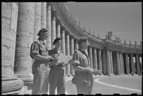 World War 2 New Zealand soldiers at Piazza San Pietro, Rome, Italy