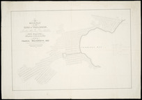 A rough plan of the town of Wellington, at Lambton Harbour, Port Nicholson, New Zealand [cartographic material] / transmitted to England (via India) by Francis Molesworth, Esq.