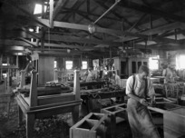 Inside the workshop of Purser and Son, cabinetmakers in Wanganui