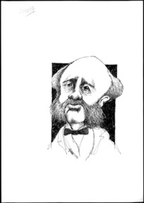 Winter, Mark, 1958- :Caricature of Alfred Domett, 1811-1887, drawn April 2003.
