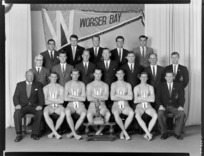 Worser Bay Surf Life Saving Club, Wellington, with the team of 1962, winners of the Cook Strait trophy