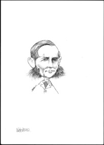 Winter, Mark, 1958- :Caricature of George Waterhouse, 1824-1906, drawn April 2003.