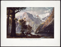Rooney, John William, 1869-1952 :The Lion and Pembroke Peak, Milford Sound / J W Rooney. - Shirley [Christchurch]; Printed and published by Edmund E C Hyde for the Christchurch Press, 1935.