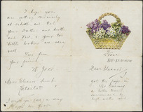 Letter from W Jack to Eleanor Hunt