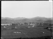 Distant view of Tolaga Bay, Gisborne