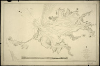 Kawhia Harbour [cartographic material] / surveyed by B. Drury, P. Oke and H. Ellis, 1854.