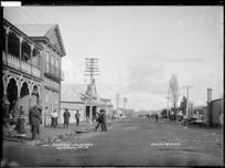 Great South Road, Ngaruawahia, looking South, 1910 - Photograph taken by G & C Ltd
