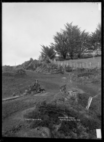 Nicholson's Bridge, Te Mata, near Raglan, 1910 - Photograph taken by Gilmour Brothers