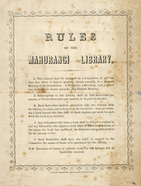 [Mahurangi Library] :Rules of the Mahurangi Library. [18--?].