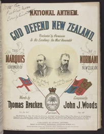 God defend New Zealand : national anthem / words by Thomas Bracken ; music by John J. Woods.