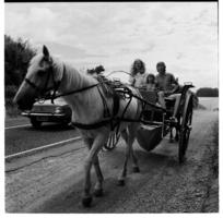 Waihi, Coromandel, and itinerant family on the road. 1971