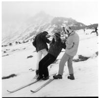 Turoa Skifield, National Park, learners' slopes.