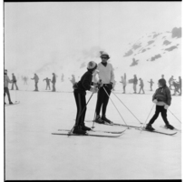 Turoa Skifield, Tongariro National Park, learners' slopes.