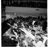 Scenes at a rock concert in Wellington Town Hall