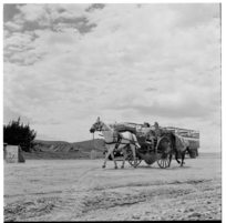 Itinerant family on the road in Coromandel, and, roadworks in Auckland, 1971