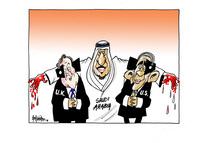Bloodied Saudi Arabia embraces blinkered U.K. and U.S.